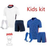 Таиландский Kit Kit Kit Soccer Jersey 2021 Kane Sharling Abraham Rashford Lingard Vardy Sancho Arnold 22 22 футболки для футбол для футболов Детский комплект Униформа Молодежные мальчики