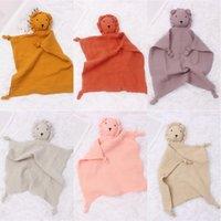 Soft organic cotton muslin lion animal Newborn Pacify Towels Bibs Soothers towel Robes 3103 Q2