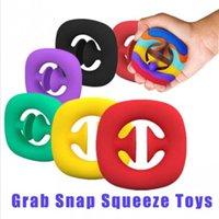 DHL Grab Snap Thing Toy Fidget Snappers Рука Сила Рукоятки Сжигание Кольцо Игрушки Сенсорный Инструмент ADHD Аутизм Стресс Средства Свадебная Свадьба