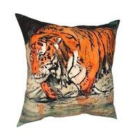 Big Tiger Pillowcover Home Decorativo cuscino per animali decorativi cuscino per il cuscino per il divano poliestere stampa a doppia faccia cuscino casual / decorativo