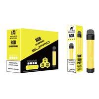 Hugo Vapor Supro IV LED Disable E-Cigarro com 850mAh Cartucho 5ml Cartucho 1500Puffs Authentic Vape Pen Maskking High Pro Max Puff Flex Ultra
