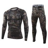 Nouveau Sous-vêtements thermiques de camouflage ESDY Formation fonctionnelle Camo Sports Sexy Fitness Long Johns Runsuit