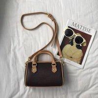 Designer Boston Taschen Leinwand Echtes Leder Dame Messenger Bag Telefon Handtasche Mode Satchel Nano Kissen Umhängetasche Handtasche