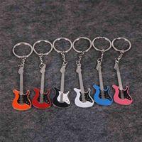 42piece Guitar Keychain Creative Design Bass Guitar Musical Instrument Keychain Gift Fashion Pendant 210409