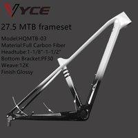 Vyce مشرق أسود غراد رمادي كامل الكربون mtb دراجة الإطار قرص الفرامل 27.5 UD لامعة إطارات دراجة 31.6 ملليمتر 135xqr 142x12 ملليمتر