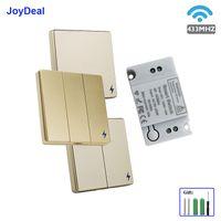 433 MHz Kablosuz RF 86 Duvar Paneli Anahtarı, Lamba LED Ampul Uzaktan Kumanda Anahtarı AC 110 V 220 V 1CH 1 Kanal Kablosuz Koridor Oda Merdiven Anahtarları