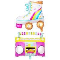 Party Decoration Cartoon Toy Balloons Children's Activities Radio Skates Birthday Aluminum Foil