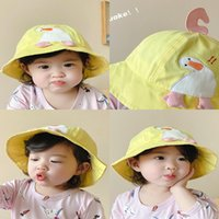 Hats Bucket Hat Baby Sun Children's Spring and Summer Cute Super Du Embroidery Children Fisherman's Big Ee Protection{category}