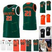 NCAA College Miami Hurricanes Basketball Jersey 0 Chris Lykes 1 Dejan Vasiljevic 2 Isaiah Wong 3 Nysier Brooks 사용자 정의 스티치