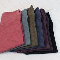 L Colore macchiato dei pantaloni da donna a colori del modello del modello dei pantaloni ad alto contenuto di yoga dei pantaloni dell'outfit dell'alto dell'alto dell'allinea della palestra dello sport classico Pantaloni a tenuta elasticizzanti elastici