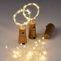 LED Strings 10 LEDs Solar Wine Bottle Stopper Copper Fairy Strip Wire Outdoor Party Decoration Novelty Night Lamp DIY Cork Light String CRESTECH