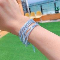 Charm Bracelets Fashion Miyuki Bracelet Handmade Multi-strand Beaded Woven For Women Boho Adjustable Simple Femme Pulseras Jewelry