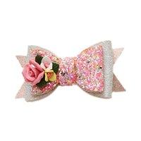 5 색 여자 머리 barrettes 공주 인어 공주 squins 꽃 활 헤어핀 키즈 크리스마스 머리카락 클립 패션 액세서리 3yy G2