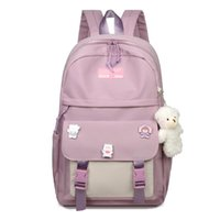 School Bags Teenage Girls Backpack Women Bag Patchwork Lightweight Nylon Solid Student Bookbags Female Teen Schoolbag