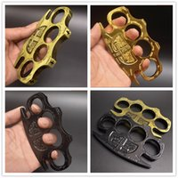 Punch button HELL DETECTIVE CONSTANTINE BRASS DUSTERS GOLD Powerful safety equipment self-defense ring tiger finger tools boxing Protective Gear save oneself