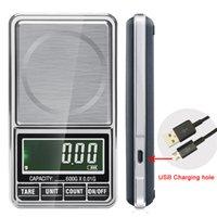 600g x 0.01G Bilancia elettronica per gioielli elettronici Digital Peso tascabile Mini Bilanciamento di precisione USB Powered LCD GOLD GRAM Bilancia