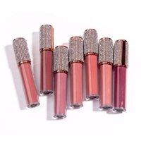 Labial brillo imprimir su logo etiqueta privada diamante lipgloss al por mayor claro brillante brillo brillante maquillaje personalizado líquido lápiz labial a granel