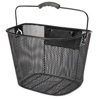 Cycling Bags Metal Mesh Basket For Mtb Mountain Bike Bicycle Front Foldable Riding Rear Pannier Quick Release Shopping Handle