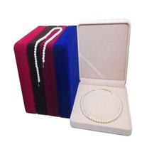 Velvet Fresh Pearl Necklace Box Case Round Core Jewelry Packaging Box Storage Gift Boxes Jewelry Carrying