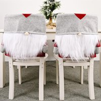 Chair Covers Christmas Cover Faceless Gnome Hat Cushion Holiday Party Decoration Dining Kitchen Seat Ornaments