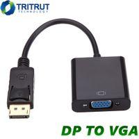 DisplayPort Display Port DP к VGA Адаптер кабель для мужчин для женщин-конвертер DP2VGA для планшетных ПК Компьютер ноутбук HDTV монитор проектор с OPP