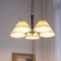 Chandeliers American Style Branch Chandelier Lighting Retro Copper Lamp For Living Room Bedroom Vintage Light Fixture