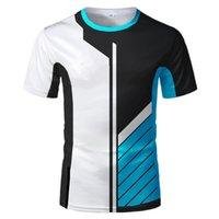 Futbol Formaları 2021 Erkek Yaz 3D Dijital Baskı Şerit Çok Renkli Ekip Boyun Nefes Bisiklet Casual Moda Tişört Ve Top 130-6xlsoccer Jersey
