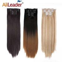 """AliLaader 6pcs / Set 22 """"Pezzo 140G Dritto 16 clip Styling Styling Styling Clip sintetico nelle estensioni dei capelli resistenti al calore"""