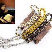 Chains 33 Prayer Beads Muslim Islam Worship Rosary Muhammad Tasbih Beaded Chain Bracelet Gifts F2TD
