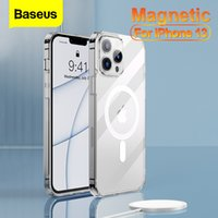 Baseus Magnetic Clear Phone Case for iPhone 13 Pro 13Pro Max 2021 Transparent Back Cover For Mag Wireless Charging Magnet