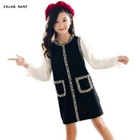 Big Girls Dresses 2021 Spring Princess Party Dress For Girl Long Sleeve Children Clothing Teenage Kids Clothes Girl's