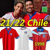21/22 Nyaste Chile Soccer Jerseys Chilean 2021 2022 Vidal Alexis Sanchez Felipe Mora Erick Pulgar 1998 Retro Fotbollskjortor # 11 Salas Zamorano Sierra Vintage Jersey