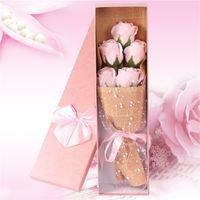Sabun Gül Buket Hediye Yapay Çiçek Annenin Günü Hediye Doğum Günü Dekoratif Çiçekler Kutu başına 5 adet 1247 V2