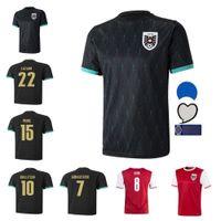 2021 오스트리아 남성 축구 유니폼 22 22 David Alaba 홈 멀리 ArnaUtovic Sabitzer Grillitsch Camisetas 축구 셔츠