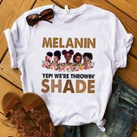 Summer Womens Designers T shirt Simple Classic White Tee African Women Cartoon Image Printed Sports Casual Tops Plus Size Boutique Ladies Clothing G73K1Y8