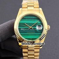 Twf 41mm datejust relógios malaquita verde textura japão relógio automático masculino relógio 126334 126333 18k amarelo bracelete hwrx hello_watch 2 estilo