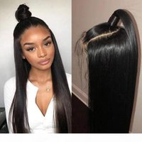 360 Frontal Full Lace Straight Human Hair Wigs Cheap Straight Pre-Plucked With Baby Hair Virgin Brazilian Glueless 360 Lace Front Wig