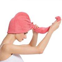 Womens Hair Trocknende Hut Schnelltuch Tuch Kappe Bad Mikrofaser nach Dusche Trockenbaden Zubehör Werkzeug