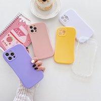Parlak Sıska Şekli Düz Renk Cep Telefonu Kılıfları iPhone 12 11 Pro Max 7 8 Artı X XR Kılıf Hücresi Arka Kapak
