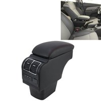 organizer Car ABS Leather Wrapped Armrest Box with Fast Charge USB Holes and Cables for Kia K2