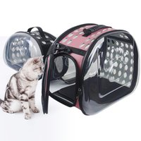 42 * 26 * 35 cm Space Carrier Bag Cat Dog Transparent Handbag Capsule PET Mochila transpirable Puppy Llevar Viajes plegables Outdoor Trave GKKO