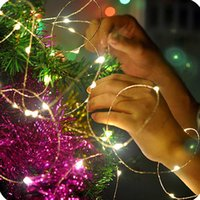 2M 3M 5M 10M LED Silver wire Copper Wire 3AA Battery Operated LED Fairy String Light for Christmas Holiday Wedding Party lights Y0720