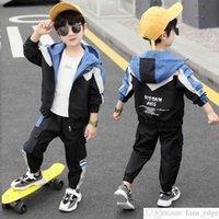 Jungen Anzug 2021 Neue Frühling und Herbst Baby Schöner Trendy Kleidung Western Stil Colorblock Baseball Uniform Zweiteilige Sportbekleidung Koreanisches Sty