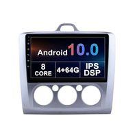 Joueur audio DVD de la voiture pour Ford Focus 2006-2014 Écran tactile de la navigation radio Android 10 4G 9 pouces multimédia à 8 cœurs