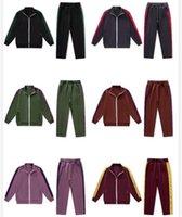 Famosos masculinos masculinos e filhos de mulheres sportswear anjo casual jaqueta carta de impressão Calças esticar zíper multicolor por atacado