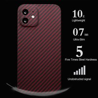 For Iphone 13 Pro Max Pure Real Carbon Fiber Phone Cases for IPhone 12 13 Promax Ultra-thin Business Full Cover Shockproof Coque H1009