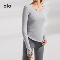 Tracksuits das Mulheres Alo Suit Sportswear Fitness Running Yoga Manga Longa Top Slim Casual