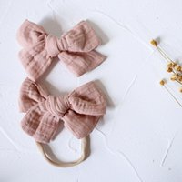 Hair Accessories Baby Girl Clips Cotton Barrette 4 Inches Bows Hairpins Cute Children Princess Lovely Headwear