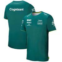 Aston Martin Cognizant F1 2021 T-shirt team ufficiale Nuova estate Summer Fimartin Team maschile da uomo Sport da uomo Stita a maniche corte T-shirt Assorbimento Dimensioni S - 5XL