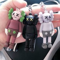 3Colors Fashion Brand Violent Bear Kaws Doll Car Key Ring Cartoon Designer Men Women Keychains Bag Pendant Accessories Creative Personality Keychain Lovers Gifts